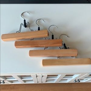 4 Pant or Skirt Wooden Hangers